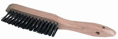 Handdrahtbürste für Kehlnähte 3-reihig, Stahl