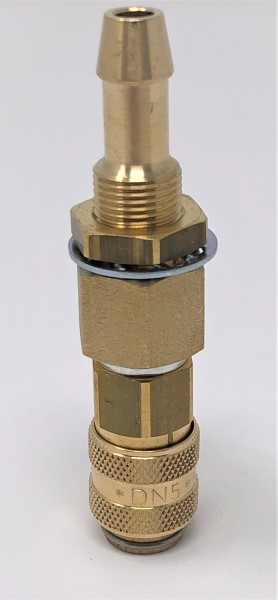 Einbaukupplung NW 5 ‐ 8/9 mm ‐ Messing