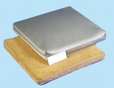 Schweißerkissen, 400 x 400 x 40 mm, Spaltleder, 200 °C