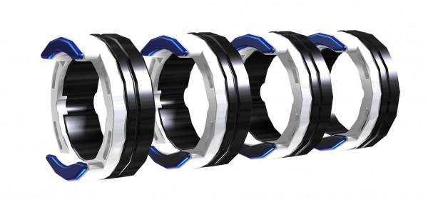 FE 4R 0.8-1.0MM / 0.03-0.04 INCH BLUE/WHITE