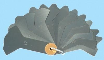 Schweißnahtfächerlehre, Meßbereich 3-12mm