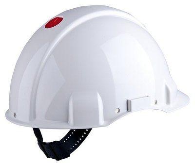 3M G3001 Schutzhelm G31NUW in Weiß, unbelüftet, mit Uvicator, Ratsche und Kunststoffschweißband