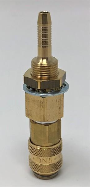 Einbaukupplung NW 5 ‐ 5 mm ‐ Messing